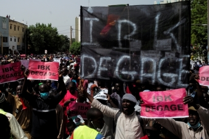 A large rally organised by the opposition coalition in Bamako on 18 June.