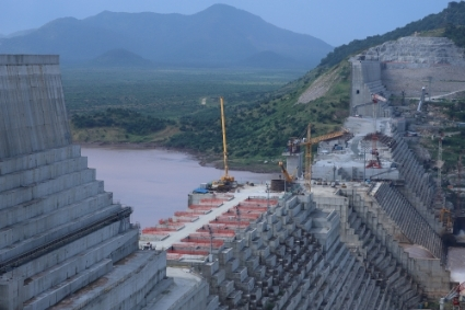 The site of the Grand Ethiopian Renaissance Dam.
