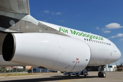An Air Madagascar Airbus A340-300.
