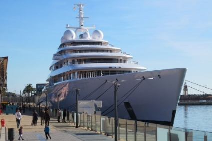Azzam, the largest private yacht in the world, owned by the Emir of Abu Dhabi.