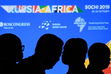 First Russia-Africa Summit in Sochi in October 2019, organised by the Roscongress Foundation.