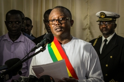 The President of Guinea-Bissau Umaro Sissoco Embalo.