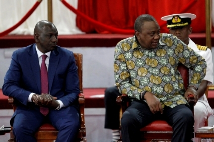 MP William Ruto and Kenyan President Uhuru Kenyatta at the launch of the reformed Building Bridges Initiative in 2019.