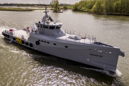 A FCS 408 patrol boat built by Damen Song Cam Shipyard.