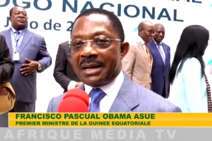 Equatorial Guinean prime minister Francisco Pascual Obama Asue.