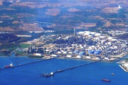 Augusta refinery in Sicily.