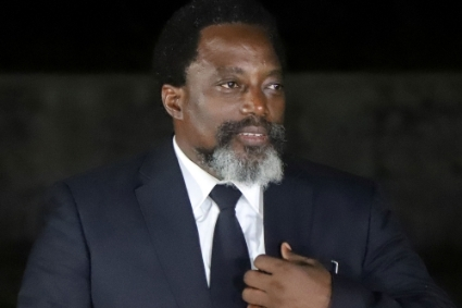 The former Congolese head of state Joseph Kabila.