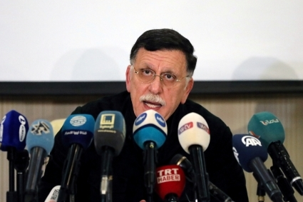 The head of the Libyan Presidential Council Fayez Sarraj.