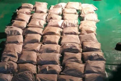 Some of the 250 packets of heroin (342.5 kg) coming in from Mozambique seized in South Africa in the beginning of September 2020.