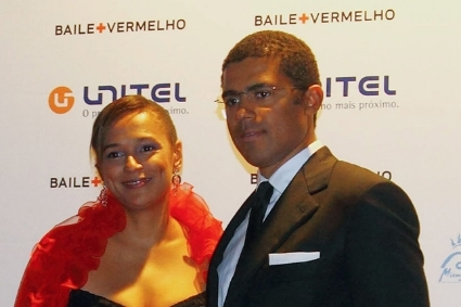 Isabel dos Santos and her husband Sindika Dokolo, in 2011.
