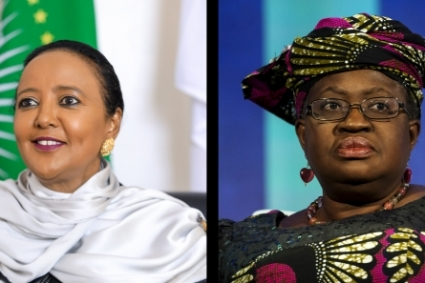 Amina Mohamed (left) and Ngozi Okonjo-Iweala (right), candidates for the general management of the WTO.