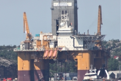 The Deepsea Stavanger rig has already dug 2,500 meters for the Luiperd-1X well.