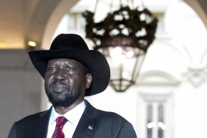 The President of South Sudan, Salva Kiir.