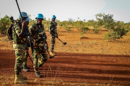 Minusma peacekeepers in a mine clearance operation in the Mopti region.