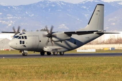 The C-27J Spartan cargo and personnel carrier.