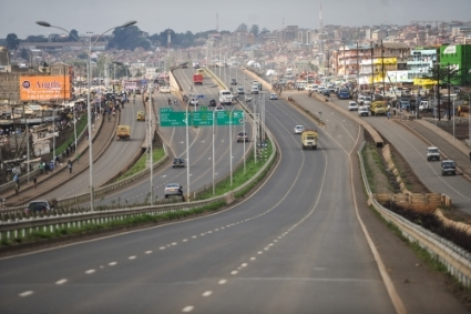 The Nairobi-Thika Super Highway in Kenya.