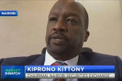 The new chairperson of the Nairobi Securities Exchange, Kiprono Kittony.