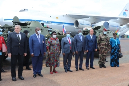 BRDM-2 armoured personnel carriers Russia delivered to Central African Republic's army.