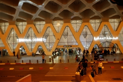 Marrakesh airport.
