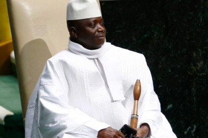 Former President of the Republic of Gambia Yahya Jammeh.