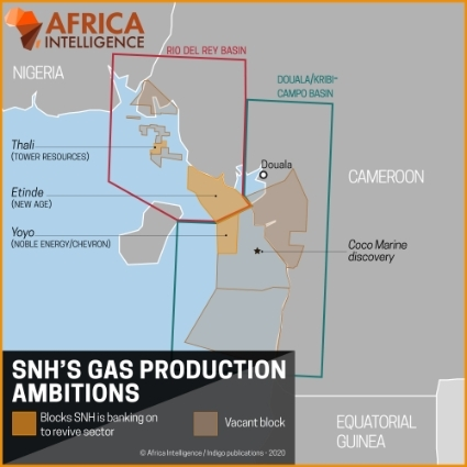 SNH's gaz production ambitions.