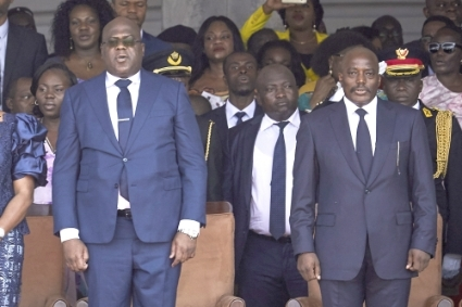 Felix Tshisekedi (left) and Joseph Kabila, during their handover in January 2019.