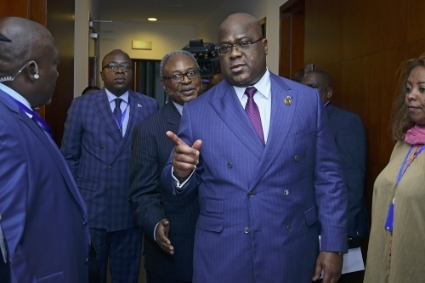 Congolese president Felix Tshisekedi at the February 2020 African Union summit in Addis Ababa.