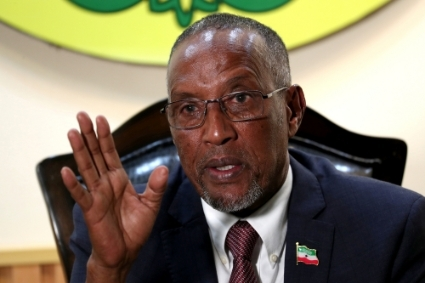 The President of Somaliland Muse Bihi Abdi.