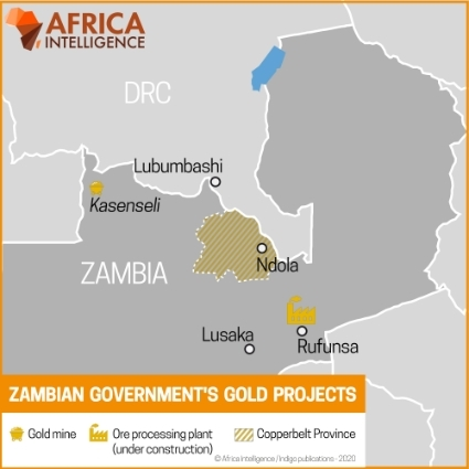 Zambian government's gold projects.