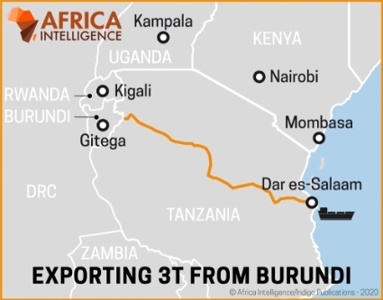 Exporting 3T (tin, tantalum and tungsten) from Burundi.