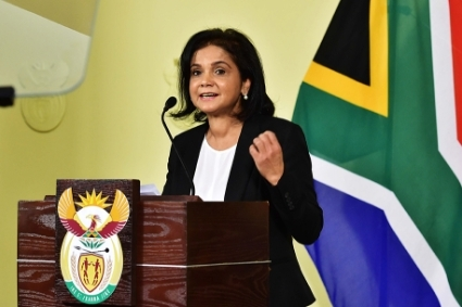 Shamila Batohi addressing members of the media after being appointed as National Director of Public Prosecutions, Pretoria, South Africa, 04 December 2018.