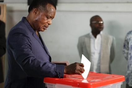 Congolese President Denis Sassou Nguesso is seeking his fourth term.