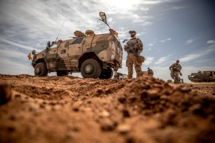 Bundeswehr troops in Gao, northern Mali.