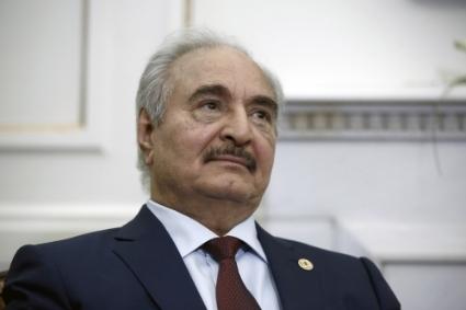 The commander of the Libyan National Army Khalifa Haftar.