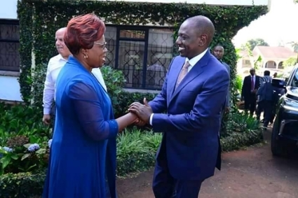 MP Alice Wahome and Kenyan Deputy President William Ruto in November 2019.