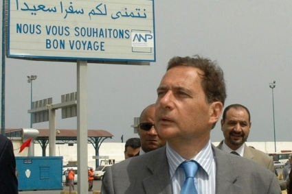 Eric Besson, then Minister of Immigration, Integration, National Identity and Solidarity Development, during a visit to Tangier in 2010.