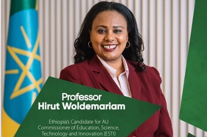 Hirut Woldemariam, Ethiopian candidate for the post of African Union Commissioner for Education, supported by Prime Minister Abiy Ahmed Ali.