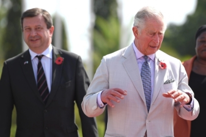 Former British Ambassador to Nigeria Paul Arkwright, with Prince Charles in 2018.