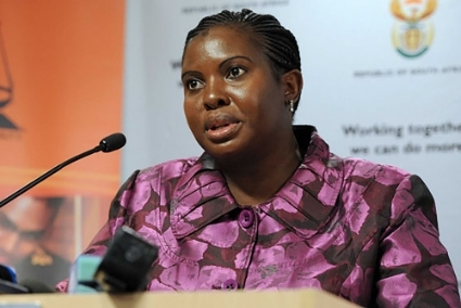 Xolisile Khanyile, head of the Financial Intelligence Centre in South Africa.