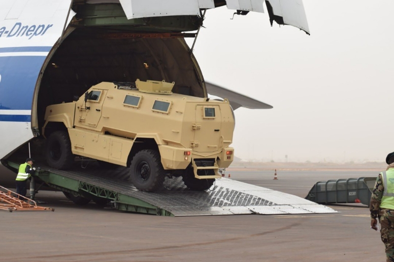 Third delivery of Typhoon armored vehicles to Bamako on January 23, 2020.