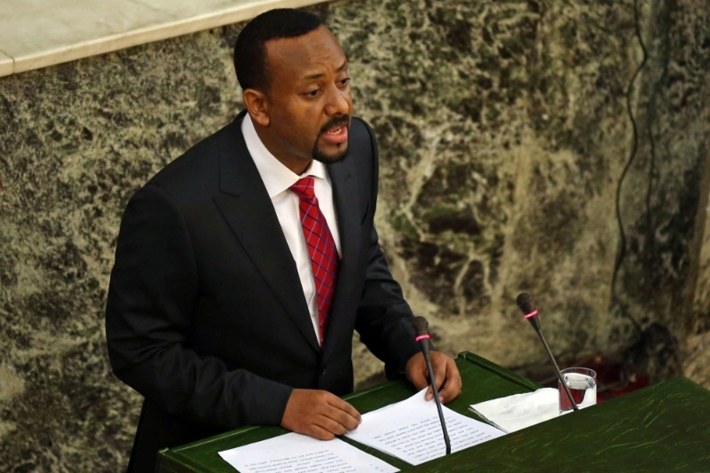 Ethiopian prime minister Abiy Ahmed Ali, during his inauguration speech on April 2nd.