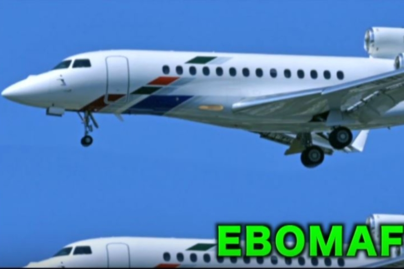 Liza Transport International's Falcon 7X in Ebomaf Force One video featuring Chocki.