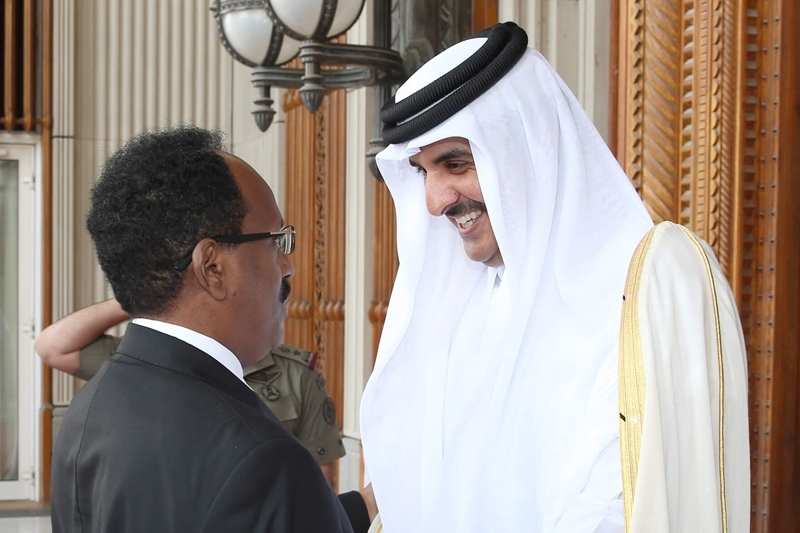 Somalian president Mohamed Farmajo seeks help from his ally, emir of Qatar Hamad al-Thani.