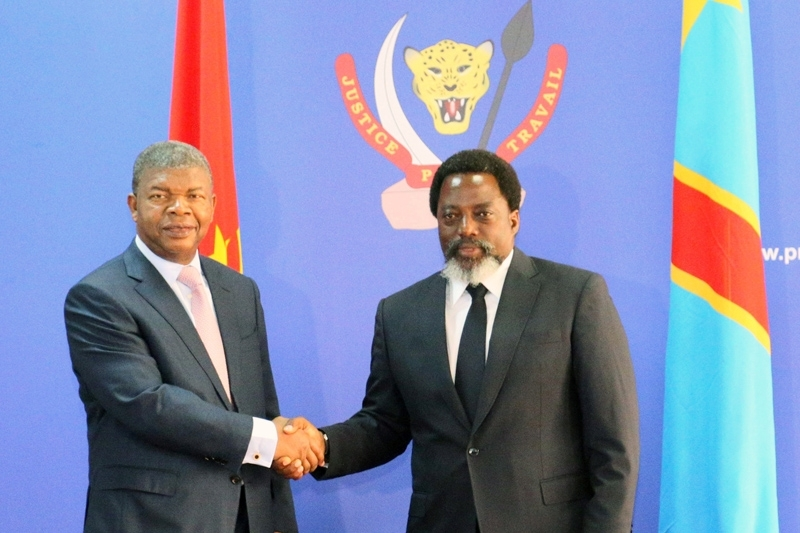 Joao Lourenco (left) is expected to convince Joseph Kabila to respect the electoral schedule.