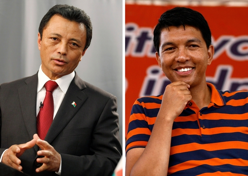 Marc Ravalomanana (left) and Andry Rajoelina, both former presidents, hope to have a new term.