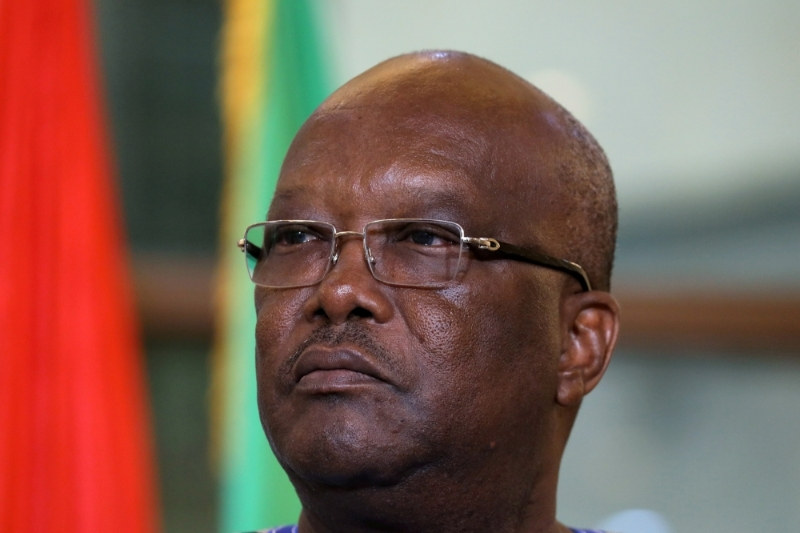 Burkina Faso president Roch Marc Christian Kabore's term will end next year.