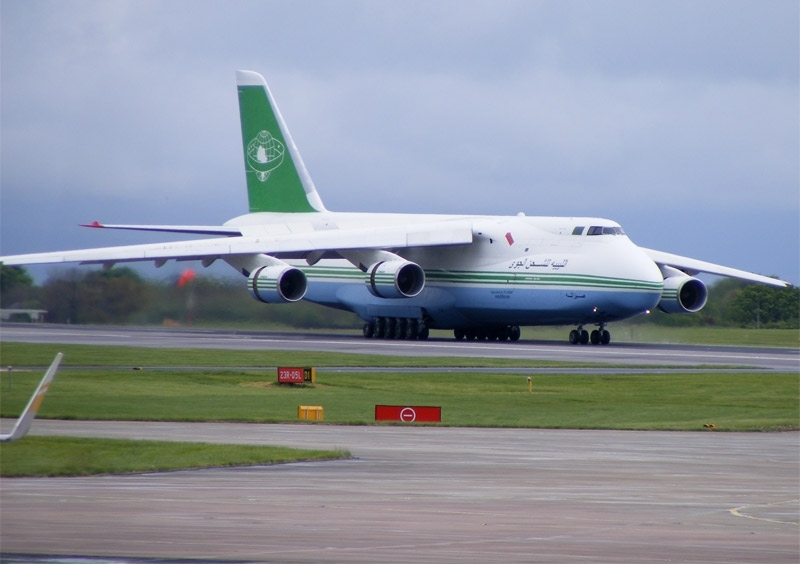 Libyan Air Cargo Antonov An-124 at Manchester Airport.