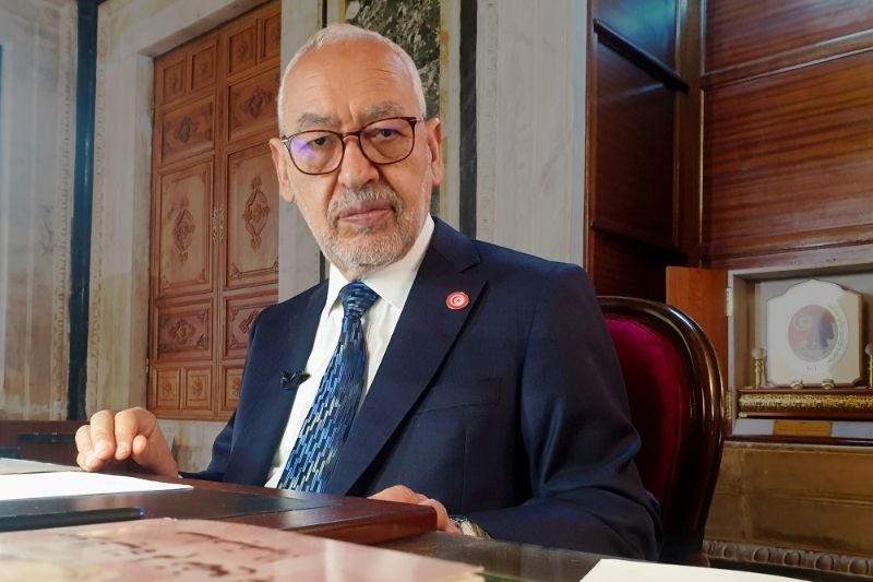 Rached Ghannouchi, speaker of the Assembly of People's Representatives (ARP) since 2019.