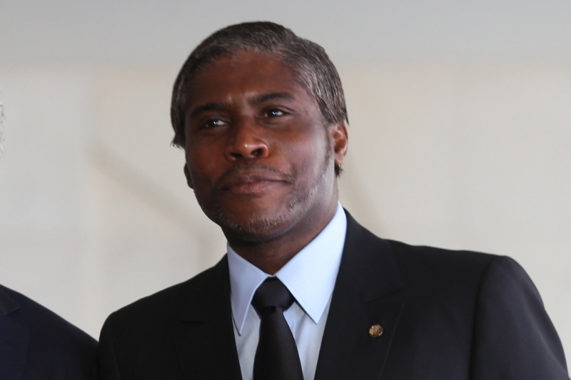 The Equatorial Guinean vice-president Teodorin Obiang Nguema, presumptive successor of his father as head of state.