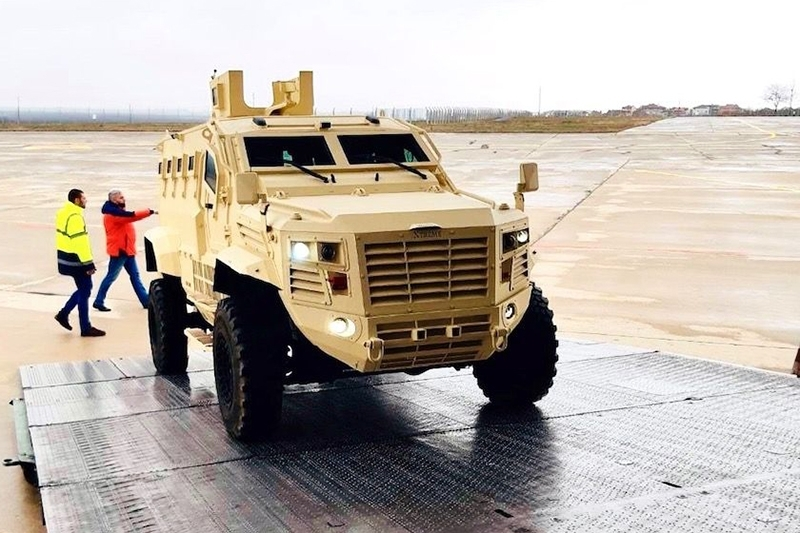 An IAG Guardian Xtreme mine-resistant ambush-protected (MRAP) vehicle.